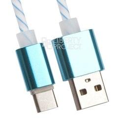 Кабель USB - USB Type-C (Liberti Project 0L-00030559) (белый, голубой)
