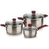 Набор посуды из 6 предметов (Rondell RDS-817) (18/20/14см) - Кастрюля, ковшКастрюли и ковши<br>Высококачественная нержавеющая сталь 18/10, толщина стенок - 0.5 мм, тройное вштампованное, а затем вплавленное дно 5.0 мм.<br>