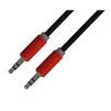 Аудио кабель Jack 3.5 mm - Jack 3.5 mm 5м (Greenconnect GCR-AVC015-5.0m) (красный, черный) - Кабель, разъем для акустической системыКабели и разъемы для акустических систем<br>Мультимедийный кабель обеспечивает высокую точность передачи сигнала с минимальным сопротивлением, длина кабеля 5м, бескислородная медь 28 AWG, разъемы Jack 3.5 mm - Jack 3.5 mm (AM-AM), экран, стерео.<br>