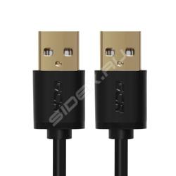 Дата-кабель USB AM-USB AM 0.15м (Greenconnect GCR-UM5M-BB2S-0.15m) (черный)
