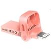 ADATA i-Memory AI920 64GB (розово-золотистый) - USB Flash driveUSB Flash drive<br>ADATA i-Memory AI920 64GB - флэш-накопитель, объем 64Гб, интерфейс USB 3.1/Lightning, скорость чтения 150Мб/с, водонепроницаемый корпус.<br>