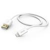 Кабель USB - Lightning для Apple iPhone 5, 5C, 5S, 6, 6 plus, 6S, 6S Plus, 7, 7 Plus, iPad 4, Air, Air 2, Pro 9.7, Pro 12.9, PRO, mini 1, mini 2, mini 3, mini 4 (Hama 00173640) (белый) - Usb, hdmi кабель, переходникUSB-, HDMI-кабели, переходники<br>Дата-кабель с коннекторами USB и Lightning предназначен для зарядки и синхронизации устройств от компании Apple, оснащенных разъемом 8-pin, длина 1.5м.<br>