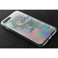 Силиконовый чехол-накладка для Apple iPhone 5, 5S, SE (iBox Fashion YT000009736) (Дракон)