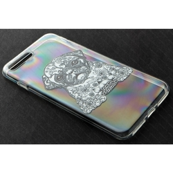 Силиконовый чехол-накладка для Apple iPhone 7 (iBox Fashion YT000009752) (Собака)