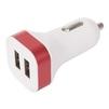 Универсальное автомобильное зарядное устройство, адаптер 2хUSB, 2.1A (VCOM CA-DC604) (красный, белый) - Автомобильный адаптерАвтомобильные адаптеры 12v - USB<br>Питание от бортовой сети автомобиля, 2хUSB порта (1А/2.1А).<br>