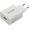 Универсальное сетевое зарядное устройство, адаптер 1хUSB, 1.5А (VCOM CA-M042) (белый) - Сетевой адаптер 220v - USB, ПрикуривательСетевые адаптеры 220v - USB, Прикуриватель<br>Питание от бытовой электросети, поддержка функции быстрой зарядки Qualcomm Quick Charge 3.0, максимальный выходной ток 1.5А.<br>