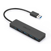 Хаб USB на 4 порта Anker A7516011 (черный) - USB HUBUSB HUB<br>Ультратонкая конструкция, 4 порта USB 3.0, LED-индикатор питания, термостойкие коннекторы.<br>