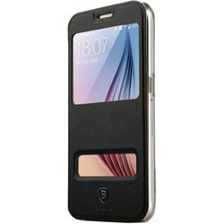 Чехол-книжка для Samsung Galaxy S6 (Baseus Primary Color Case) (черный)