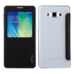 Чехол-книжка для Samsung Galaxy A7 (Baseus Primary Color Series Smart Window Leather Case) (черный)