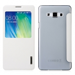 Чехол-книжка для Samsung Galaxy A7 (Baseus Primary Color Series Smart Window Leather Case) (белый)