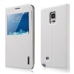 Чехол-книжка для Samsung Galaxy Note Edge (Baseus Primary Color Smart Leather Case) (белый)