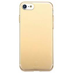 Чехол-накладка для Apple iPhone 7 (Baseus Simple Series Case Clear ARAPIPH7-B0V) (прозрачный, золотистый)