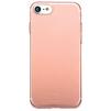 Чехол-накладка для Apple iPhone 7 (Baseus Simple Series Case Clear ARAPIPH7-B0R) (прозрачный, розовый)  - Чехол для телефонаЧехлы для мобильных телефонов<br>Чехол плотно облегает корпус и гарантирует надежную защиту телефона от царапин, потертостей и других внешний воздействий.<br>