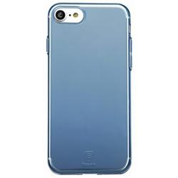 Чехол-накладка для Apple iPhone 7 (Baseus Simple Series Case With-Pluggy ARAPIPH7-A03) (прозрачный, синий)
