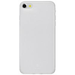 Чехол-накладка для Apple iPhone 7 (Baseus Slim Case WIAPIPH7-CT02) (прозрачный, белый)