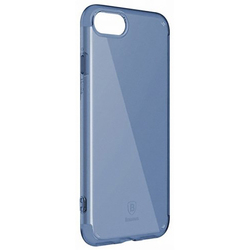 Чехол-накладка для Apple iPhone 7 Plus (Baseus Simple Series Case Anti-Scratch ARAPIPH7P-C03) (прозрачный, синий)