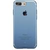 Чехол-накладка для Apple iPhone 7 Plus (Baseus Simple Series Case Clear ARAPIPH7P-B03) (прозрачный, синий) - Чехол для телефонаЧехлы для мобильных телефонов<br>Чехол плотно облегает корпус и гарантирует надежную защиту телефона от царапин, потертостей и других внешний воздействий.<br>