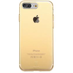Чехол-накладка для Apple iPhone 7 Plus (Baseus Simple Series Case With-Pluggy ARAPIPH7P-A0V) (прозрачный, золотистый)