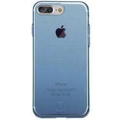 Чехол-накладка для Apple iPhone 7 Plus (Baseus Simple Series Case With-Pluggy ARAPIPH7P-A03) (прозрачный, синий)