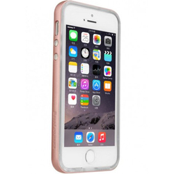Чехол-накладка для Apple iPhone 5, 5s, SE (Baseus Soft Feather Series Case FRAPIPHSE-LE0R) (розово-золотистый)