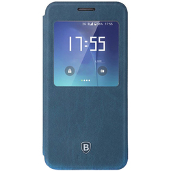 Чехол-книжка для Samsung Galaxy S7 Edge (Baseus Terse Leather Case LTSAS7EDGE-SM15) (сапфир)