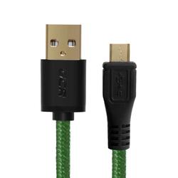 Дата-кабель USB AM-microUSB 5pin 1.5m (Greenconnect GCR-UA12MCB6-BB2S-G-1.5m) (зеленый, черный)