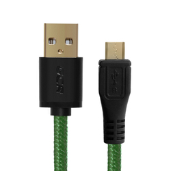 Дата-кабель USB AM-microUSB 5pin 2m (Greenconnect GCR-UA12MCB6-BB2S-G-2.0m) (зеленый, черный)