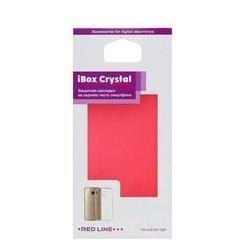 Силиконовый чехол-накладка для Microsoft Lumia 550 (iBox Crystal YT000007942) (красный)