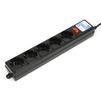Сетевой фильтр 5 розеток 0.5м (Power Cube SPG-B-0,5M-BLACK) (черный) - Сетевой фильтрСетевые фильтры<br>Номинальное напряжение - 220 В, максимальный ток нагрузки - 10 А, максимальная поглощаемая энергия - 90 Дж, двухполюсная вилка с двойным заземляющим контактом, длина - 0.5 м.<br>