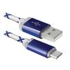 Кабель USB AM-microUSB BM (Defender USB08-03LT) (голубой) - Usb, hdmi кабельUSB-, HDMI-кабели, переходники<br>Кабель для зарядки и синхронизации портативных устройств, разъемы USB AM-microUSB BM, тип USB 2.0, светодиодная подсветка, длина 1м.<br>