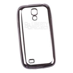 Чехол для Samsung Galaxy S4 mini (Liberti Project 0L-00030870) (прозрачный, черная рамка)