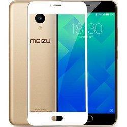 Защитное стекло для Meizu M5 (3D Fiber 3958) (белый)