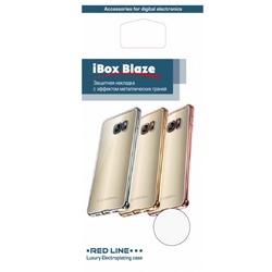 Силиконовый чехол-накладка для Xiaomi Redmi Note 4 (iBox Blaze YT000010647) (серебристая рамка)