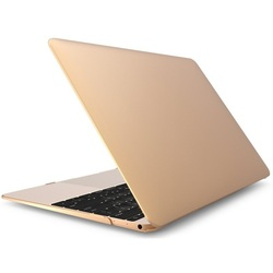 Чехол-накладка для Apple Macbook 12 (Novelty Electronics Transparent Hard Shell Case) (золотистый)