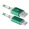 Кабель USB AM-microUSB BM (Defender USB08-03LT) (зеленый) - Usb, hdmi кабель, переходникUSB-, HDMI-кабели, переходники<br>Кабель для зарядки и синхронизации портативных устройств, разъемы USB AM-microUSB BM, тип USB 2.0, светодиодная подсветка, длина 1м.<br>