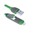 Кабель USB - microUSB, Lightning (Defender USB10-03BP) (зеленый) - Usb, hdmi кабель, переходникUSB-, HDMI-кабели, переходники<br>Кабель для зарядки и синхронизации портативных устройств, разъемы USB - microUSB с переходником на Lightning, тип USB 2.0, длина 1м.<br>