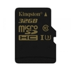 Kingston SDCG/32GBSP - Карты памятиКарты памяти<br>Kingston SDCG/32GBSP - карта памяти microSDHC, объем 32Гб, Class 10, UHS-I U3, скорость чтения 90Мб/с, записи 45Мб/с.<br>