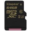 Kingston SDCG/64GBSP - Карты памятиКарты памяти<br>Kingston SDCG/64GBSP - карта памяти microSDHC, объем 64Гб, Class 10, UHS-I U3, скорость чтения 90Мб/с, записи 45Мб/с.<br>