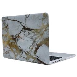 Чехол-накладка для Apple Macbook 12 (Novelty Electronics 662630) (бело-золотистый мрамор)