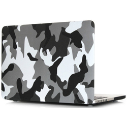 Чехол-накладка для Apple Macbook 12 (Novelty Electronics Transparent Hard Shell Case) (хаки серый)