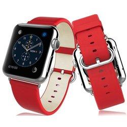 Кожаный ремешок для Apple Watch 42 мм (Hoco Classical 434483) (красный)