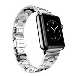 Стальной ремешок для Apple Watch 42 мм (Hoco Grand Series Slimfit Steel Watchband) (серебристый)