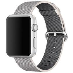 Ремешок для Apple Watch 42 мм (Hoco Nylon Band) (жемчужно-белый)