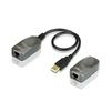 Удлинитель Aten UCE260-A7-G - Кабель, переходникКабели, шлейфы<br>Позволяет передавать сигналы USB, используя кабель Cat.5/5e/6 на расстояние до 60 метров со скоростями передачи данных, соответствующими High Speed (480 Мбит/с), Full Speed (12 Мбит/с) и Low Speed (1.5 Мбит/с).<br>