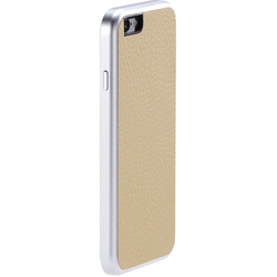 Чехол для Apple iPhone 6 (Just Mobile AluFrame Leather AF-168BG) (бежевый)