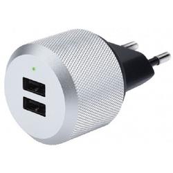 Сетевое зарядное устройство (Just Mobile AluPlug AC Adapter PA-168EU) (серый)