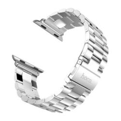 Стальной ремешок для Apple Watch 38 мм (Hoco Stainless Steel Watchband) (серебристый)