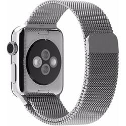 Стальной ремешок для Apple Watch 38 мм (Hoco Milanese Loop) (серебристый)