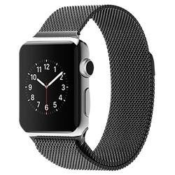 Стальной ремешок для Apple Watch 42 мм (Hoco Milanese Loop) (черный)