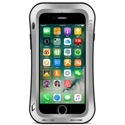 Чехол для Apple iPhone 7 Plus (Love Mei Powerful Small Waist Upgrade Version 859569) (серебристый)